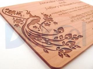 Laser engraving wood