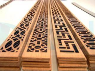 Laser cutter wood