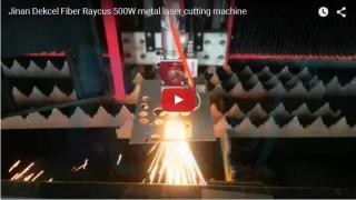 Fiber metal laser machine 500W cutting thin steel