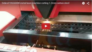 YAG600W metal laser machine cutting 2mm carbon steel