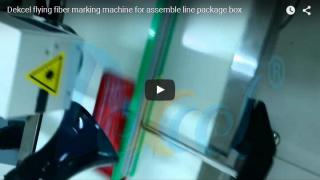 Flying laser marking produce date on packing box