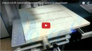 RF metal tube co2 laser machine marking on wood