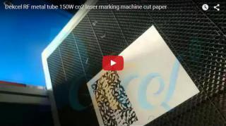 RF metal tube co2 laser marking machine cutting paper