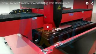 YAG600W metal laser cutting 2mm stainess steel