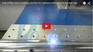 Fiber laser marking machine for stainess steel pipe lot number marking