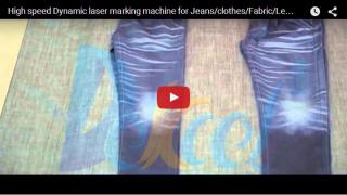 Dynamic laser marking machine for Jeans/clothes/Fabric/Leather