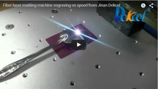 30W ffiber laser marking machine engraving on spoon
