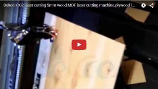 CO2 cnc laser cutter/cutting 5mm wood