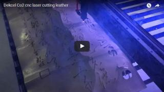 Co2 cnc laser machine cutting leather from dekcel