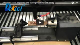 Dekcel laser engraving and cutting machine with rotary system