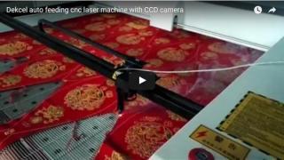 Dekcel auto feeding cnc laser cutting machine with CCD software