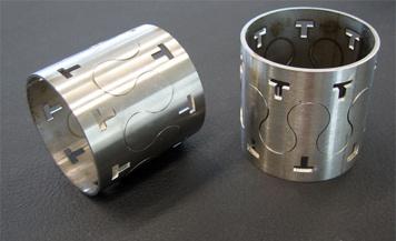 fiber cutting round pipe sample