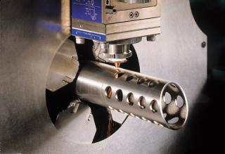 Round stainless steel fiber laser cutting machine
