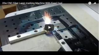 20W fiber laser marking machine with fixed tool