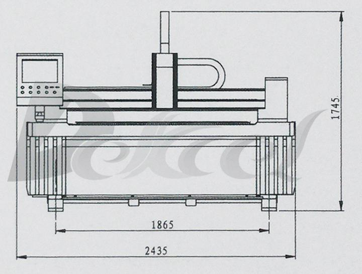 pipe cnc fiber laser machine mechanical structure