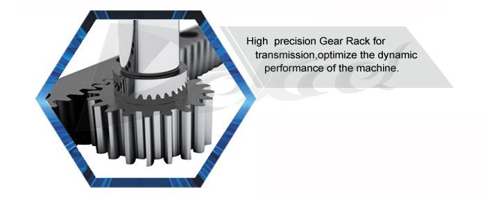 pipe cnc fiber laser machine gear rack