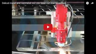 1mm stainless steel co2 metal laser cutting machine from Dekcel
