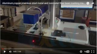 Flight fiber laser marking machine 10W/20W/30W with assemble line