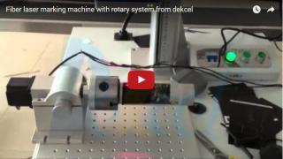 Fiber laser marking machine for round metal material