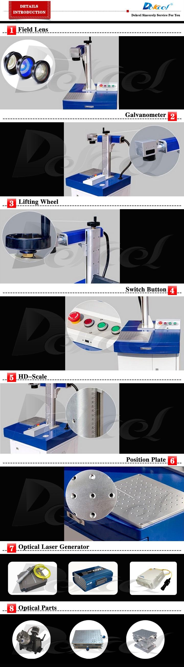 dekcel fiber laser marking machine