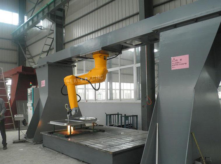 robot fiber transmission laser machine