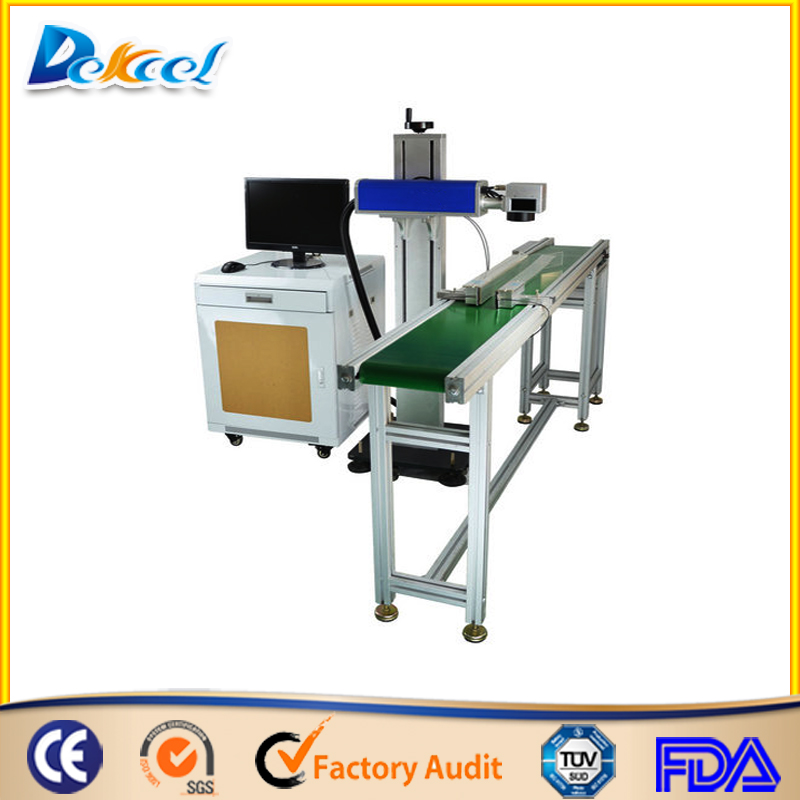online flying fiber laser marking machine