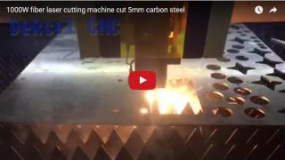 Fiber 1000W laser cutting machine cut 5mm carbon steel