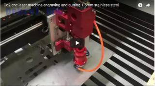 CO2 metal laser engraving and cutting stainless steel