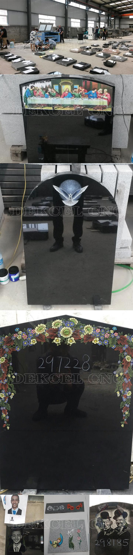 dekcel cnc tomb stone co2 laser engraving machine mark