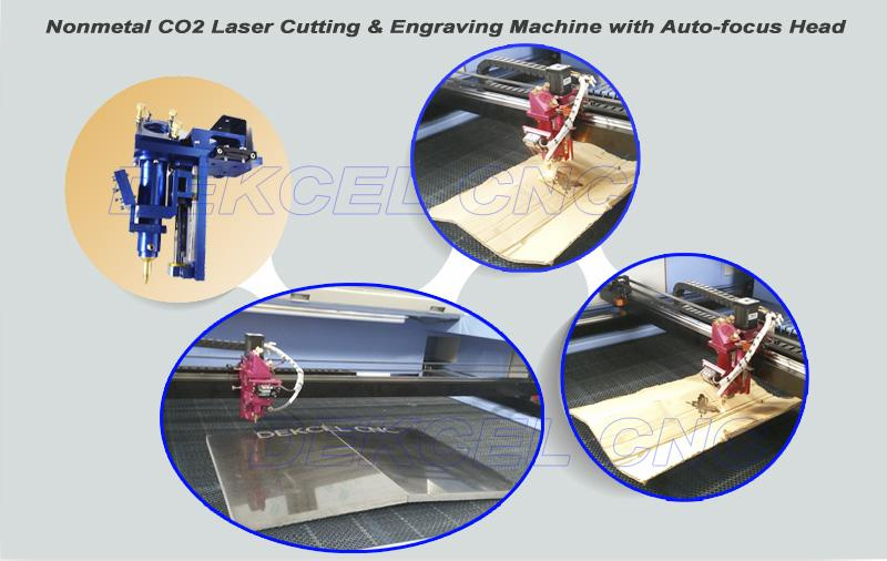 co2 nonmetal auto focus laser cutting machine