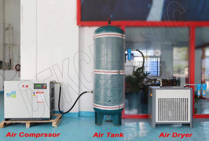 dekcel cnc screw air compressor