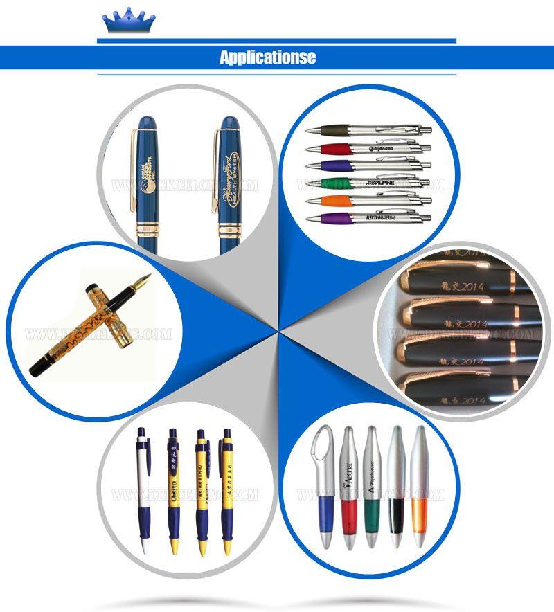 pen laser marking machine with conveyer belt