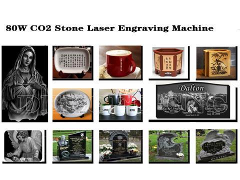 80w CO2 STONE LASER ENGRAVER MACHINE
