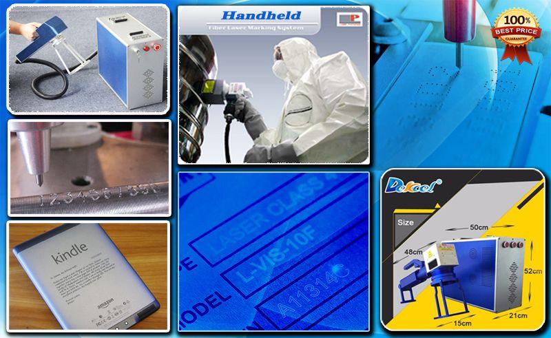 dekcel portable handheld laser marking machine