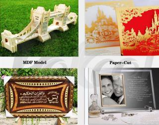 80w arts & crafts laser cutting and engraving cnc machine application
