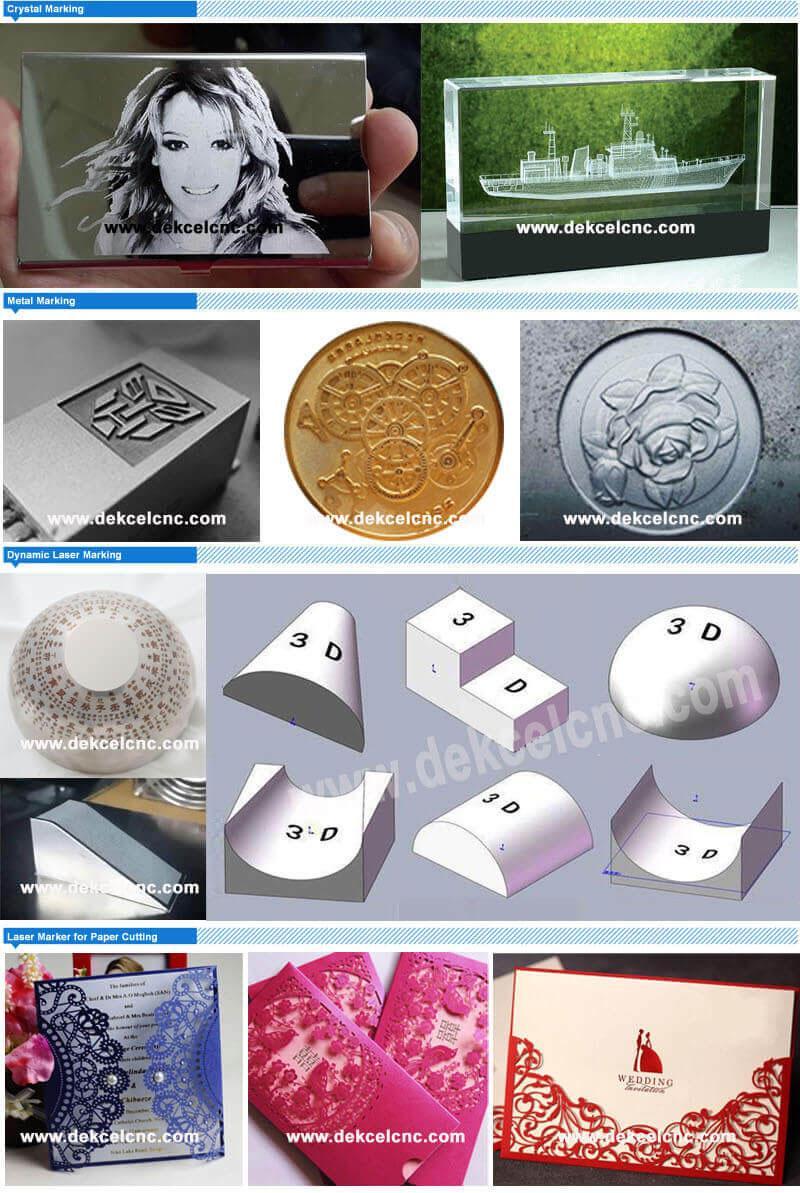 3d fiber metal plastic laser marking amchine application