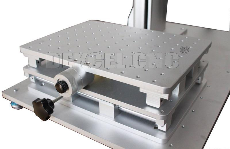mini portable IPG fiber laser marking machine working table