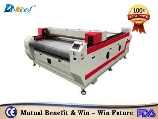 DekcelCNC®1825 auto feeding fabric cloth textile cnc co2 laser cutting machine