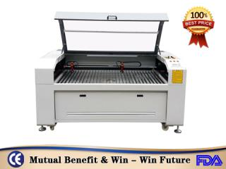 China DEK-9060 80w co2 laser cutting machine cut foam rubber nonmetal materials