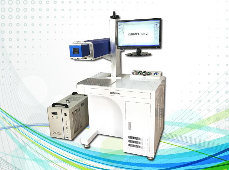 co2 100w metal tube laser marking machine