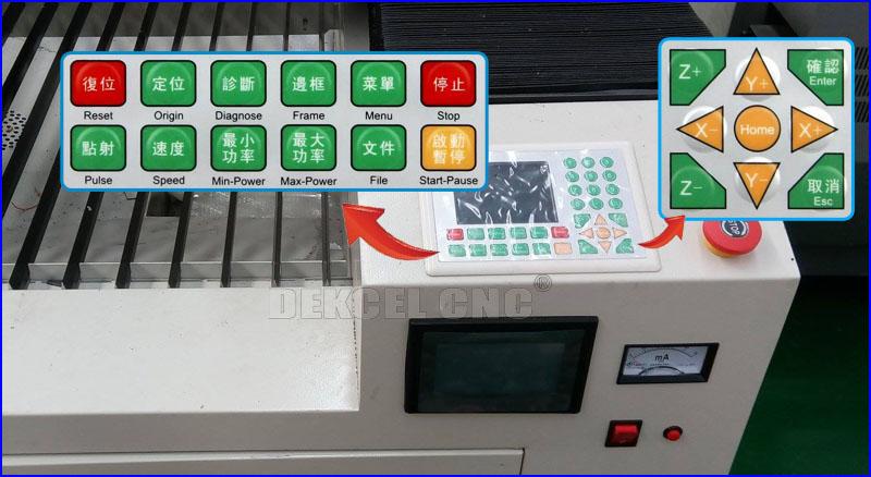 reci150w cnc co2 laser contrtol panel