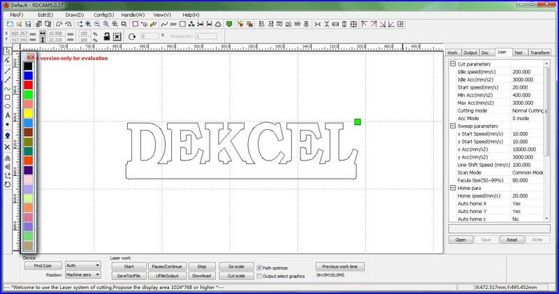 reci 150w 1325 cnc co2 laser cutter control software.