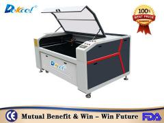 DEK-1390 Reci 100w co2 laser cutting machine for cloth hot sale