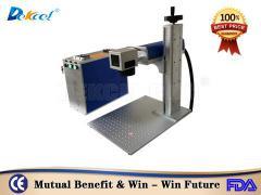 DEKCEL cnc mini fiber laser marker machine for marking metal logo