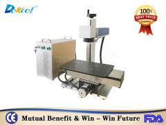 30w cnc metal nonmetal laser marking machine with moving table sale
