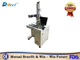 Desktop cnc vertical rotary fiber laser marking machine for plastic hot sale