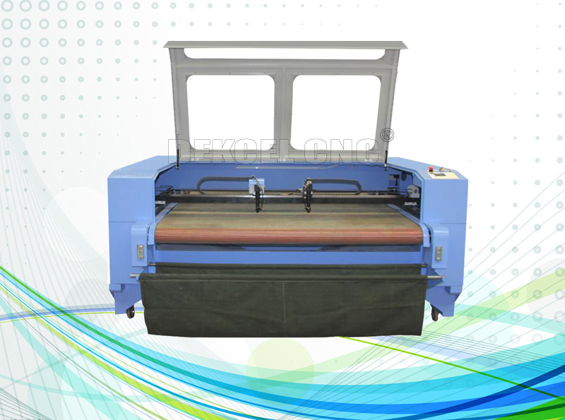 cnc co2 laser cutter for fabeic cloth with automatic feeding system