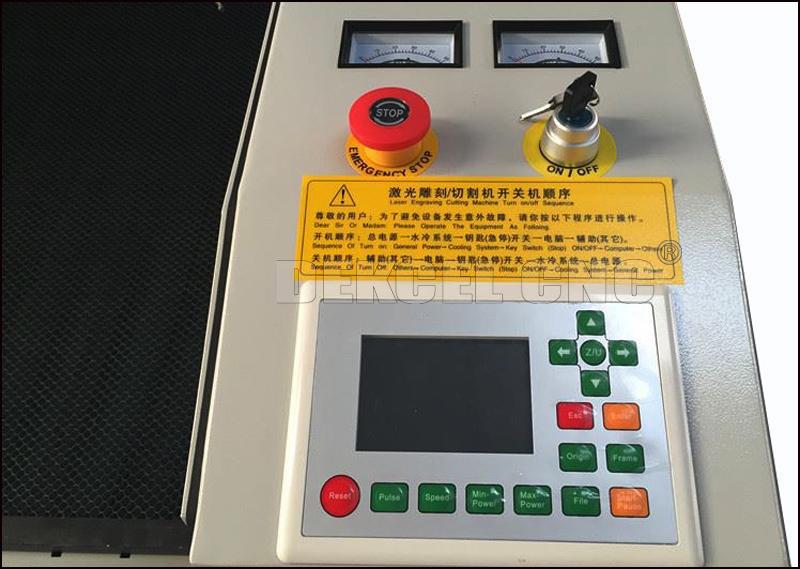 1390 80w co2 laser cutting machine Ruida control system