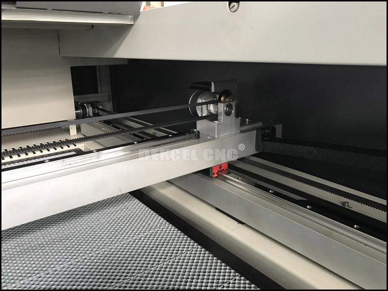 cnc co2 laser cutting machine belt transmission