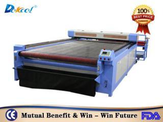 DEK-1530 cnc laser rubber cloth leather cutting machine with auto feeding system